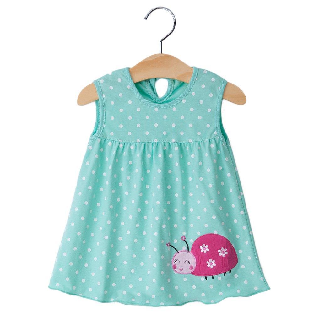2016 صيف جديد لطيف طفلة 100٪ ٪ زلة الوليد الرضع طفل الأميرة اللباس 0-12 أشهر ملابس الطفل