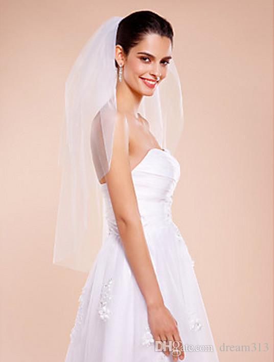 Новый высококачественный сексуальный романтический один слой локоть нарезанный край вуаль свадебные кусочки для свадебных платьев