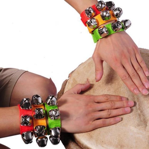 Carnival Party Noise Maker braccialetto braccialetto percussioni campane bambino educazione giocattoli danza sonaglio campane per uomo donna bambini vacanza oggetti di scena
