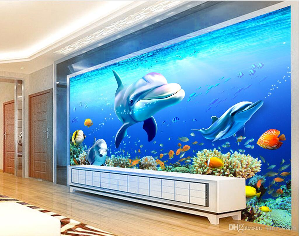 3d Room Wallpaper Custom Photo Mural Background Wall Of Coral Reef