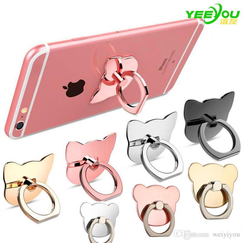 Finger Ring Mobile Phone Ring Holder Bracket Lazy Ring Buckle Mobile Phone Bracket 360 Degree Stand Holder For all Smart Phone