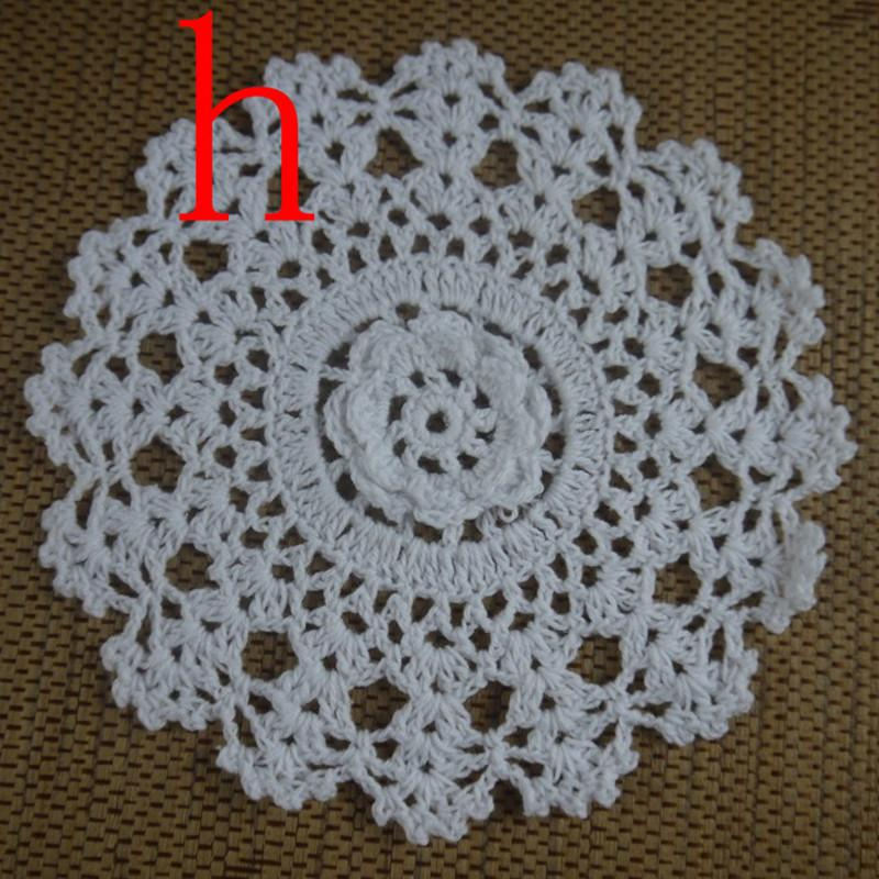 Free shipping wholesale 100% cotton lace hand made Crochet Doilies cup mat 13 color, Round Doily 18-20cm 30PCS/LOT ab3h58