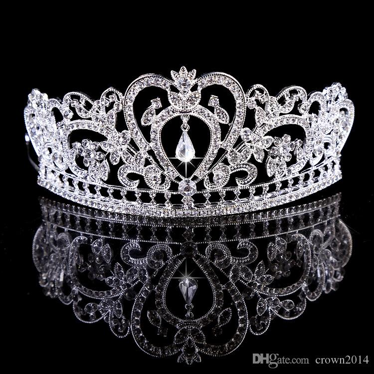 großhandel bling perlen kristalle hochzeit kronen 2019 braut diamant schmuck strass stirnband haar crown zubehör party tiara günstige kostenloser zubehoer original mini schmuck zubehor c 33 #4