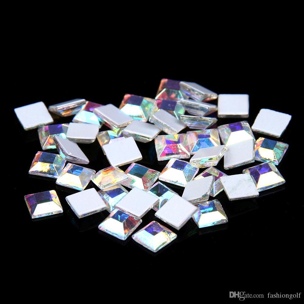 Großhandel Quadratische Form Crystal / Crystal AB nicht Hotfix Glas ...