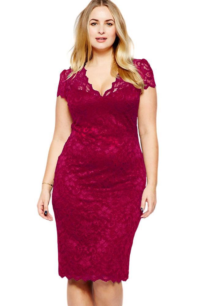 Compre Ropa Para Mujer Señoras Azul Lápiz De Desplazamiento Del Cordón Vestido De Fiesta Formal Vestido De Noche Midi Sexy Plus Vestido De Gran Tamaño