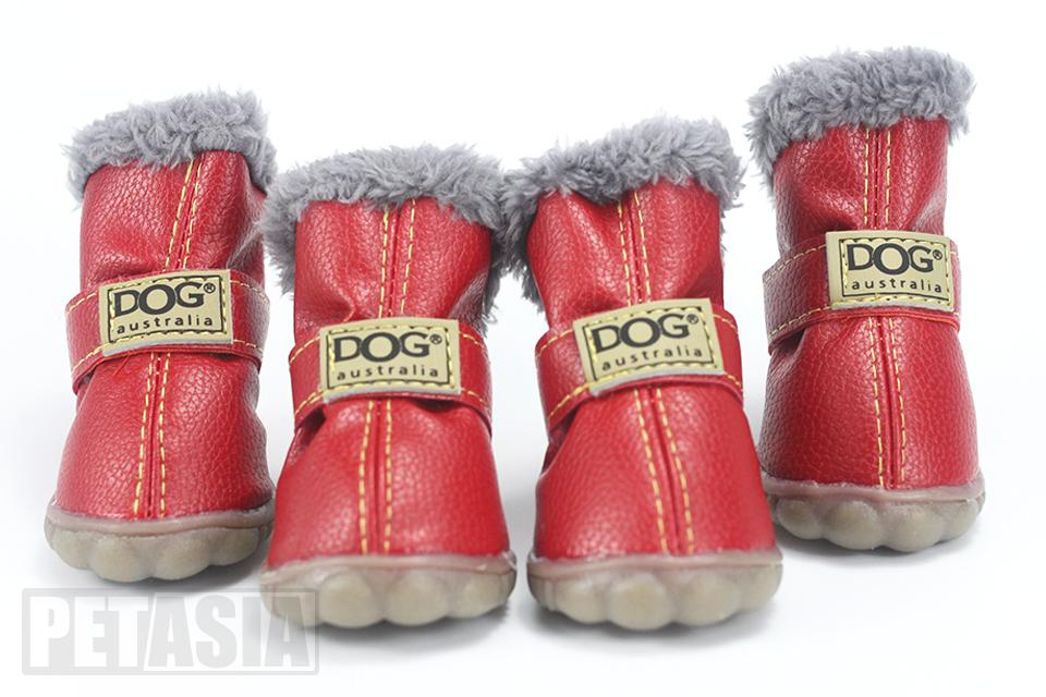 PETASIA Pet Dog Shoes Winter 4pcs set Small Medium Dogs Boots Cotton Waterproof Anti Slip XS XL Shoes for Pet Product ChiHuaHua select_960px colors red 2