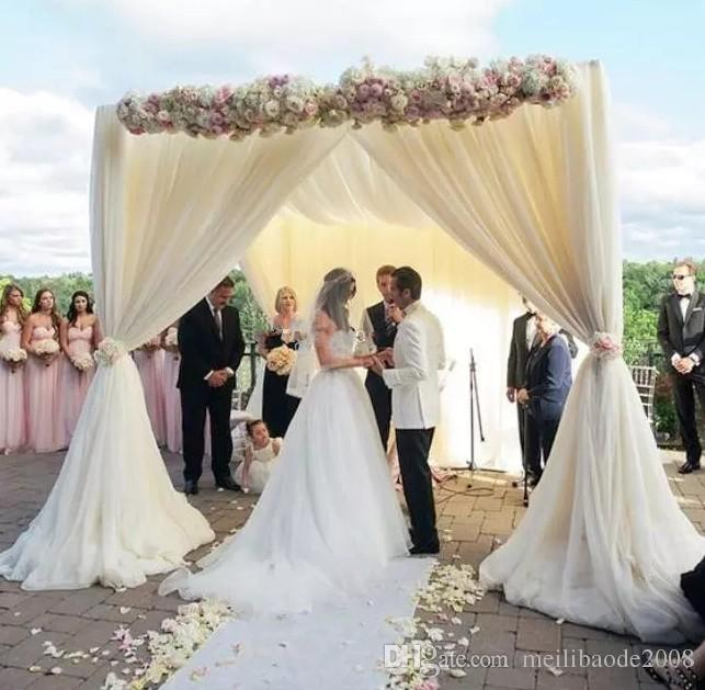 adjustable 3*3*3m square single tube crossbar of wedding piping frame , pipe and drape wedding arch, chuppah, backdrop stand LLFA
