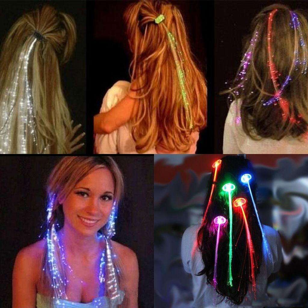 50 adet / torba Flaş Saç Bar Kulübü Parti Kadınlar için Parlayan Örgü LED Festivali Olay Kutlama Parti Malzemeleri