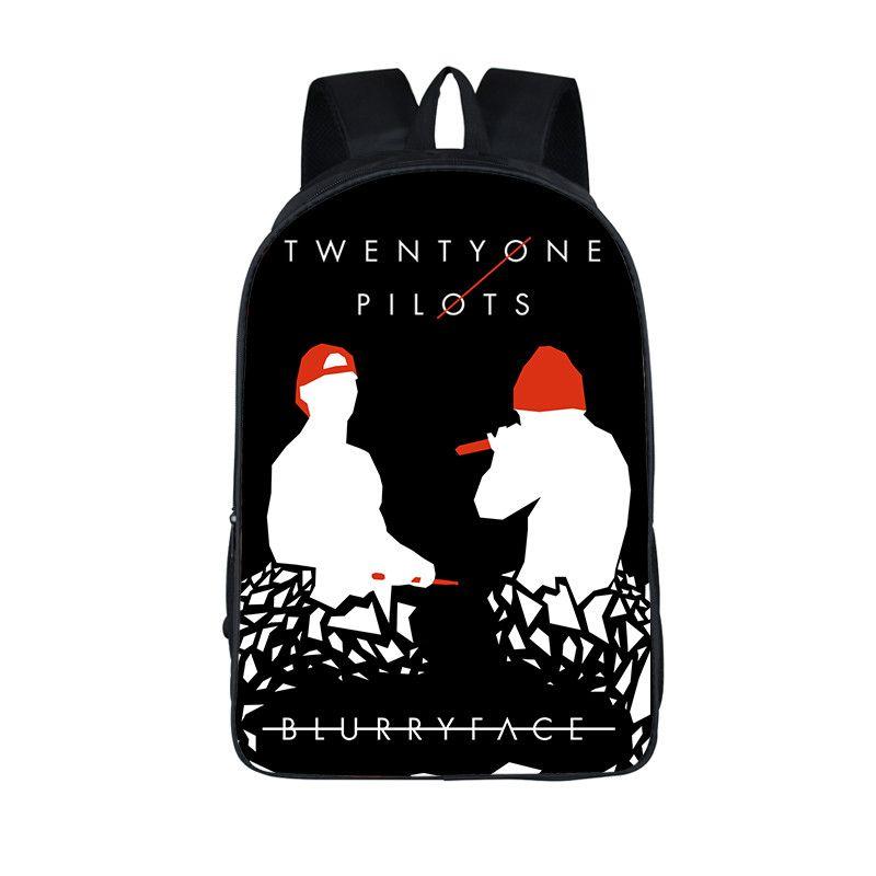 mejor diseño de variedad claro y distintivo Twenty One Pilots Backpack For Teenage Girls Boys Rock Band Kids School  Bags Tyler Joseph Laptop Mochila Josh Dun Hip Hop Bags Rucksack Backpack  Boys ...