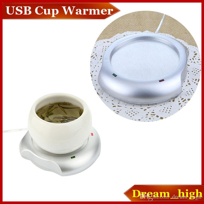 Portable USB Power Supply Cup Mug Warmer Tea Coffee Drinks Milk Cup Warmer Heating Mat Pad Coaster DC 5V Home Office Use