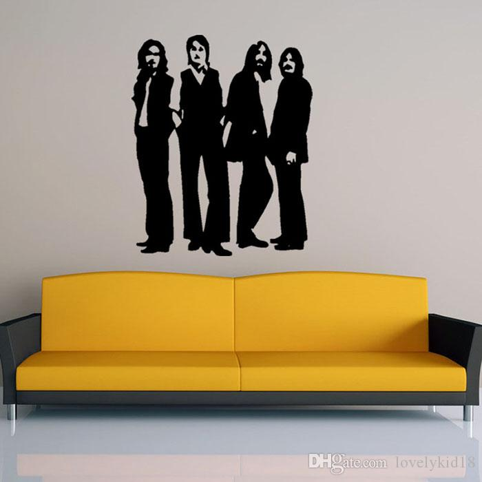 New The Beatles Wall Stickers Singers Figure Wall Decals Wallpaper ...
