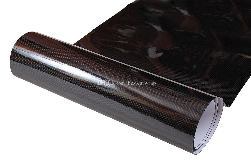 Ultra Gloss 6D Carbon Fiber Vinyl Wrap like real Carbon with Air Bubble Free Low tack glue 3M quality 1.52*20m 5x65ft