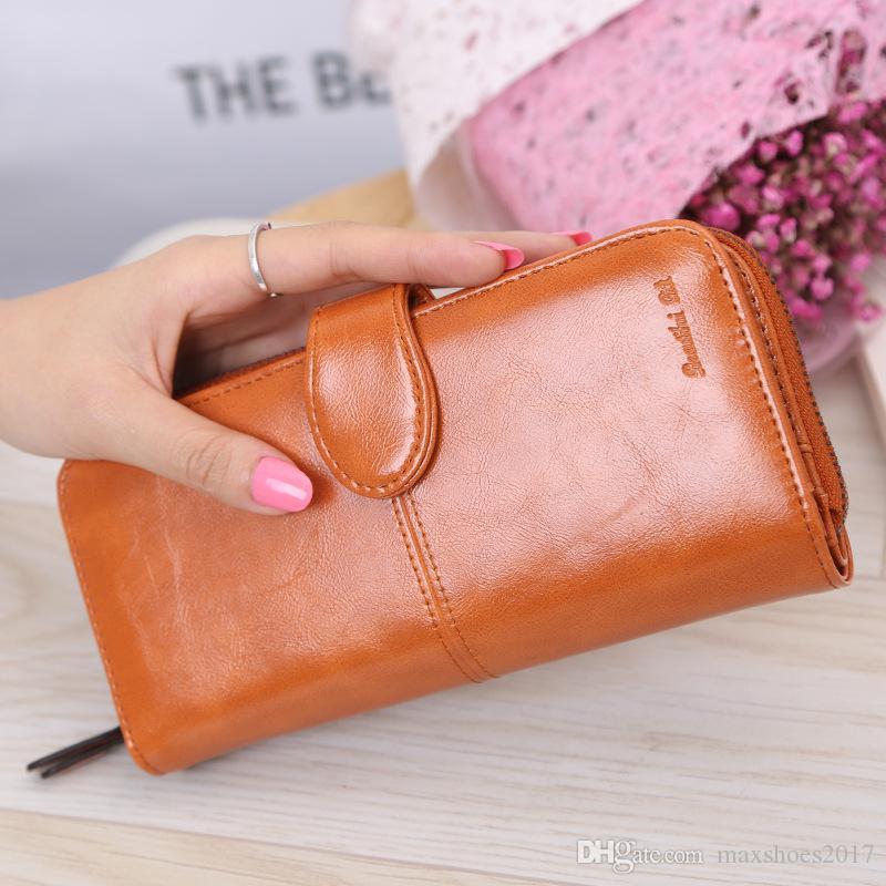 Femmes Portefeuille en cuir long sac à main zippé Carte Support Téléphone embrayage sac à main