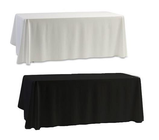 Wholesale White Black Table Cloth Table Cover for Banquet Wedding Party Decor 145x145cm