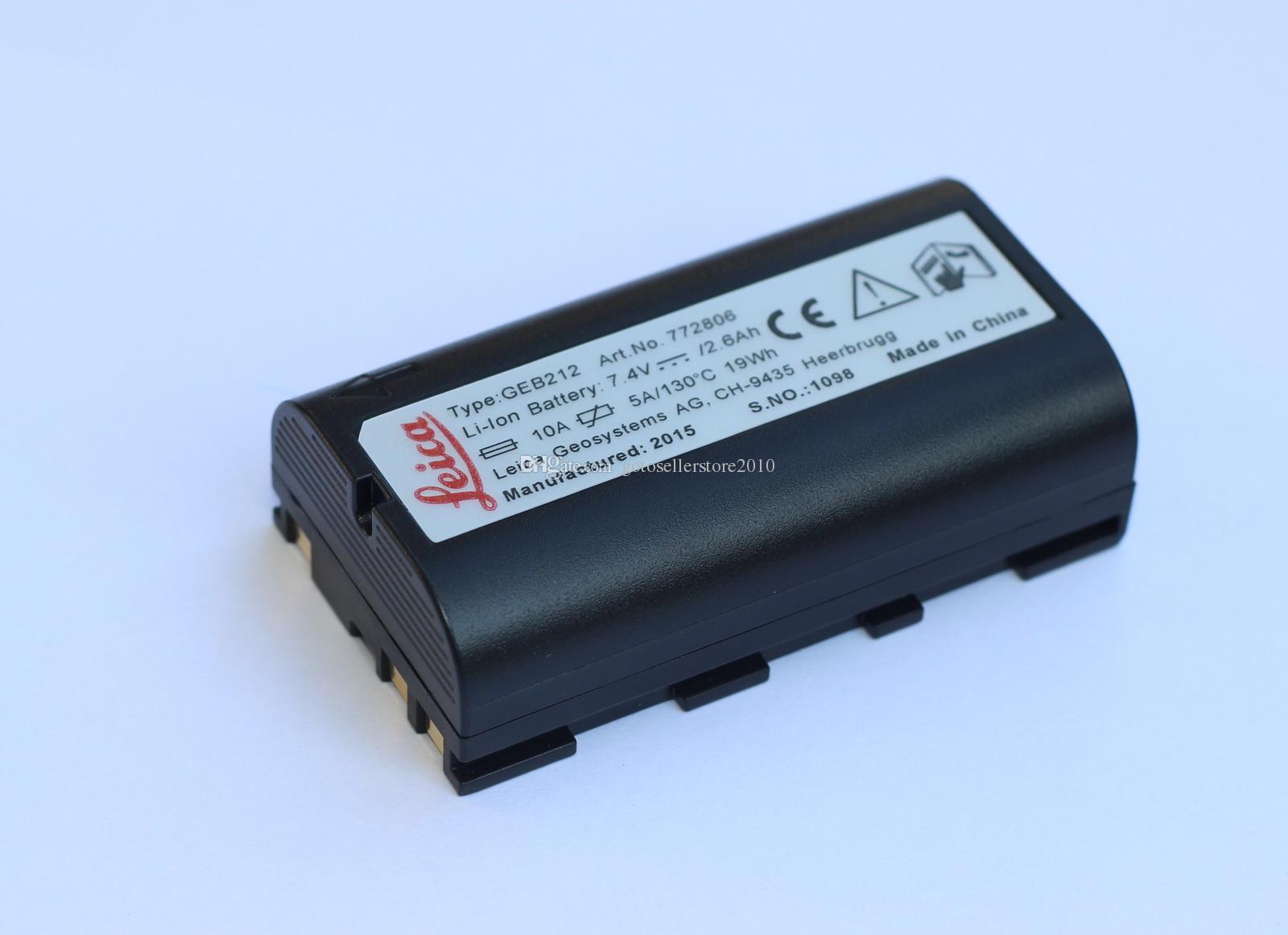 Perakende / Toptan Yeni GEB211 GEB212 Li-ion 2.6Ah pil Için leica ATX1200 RX1200 GPS1200 GRX1200 / GPS ücretsiz post kargo
