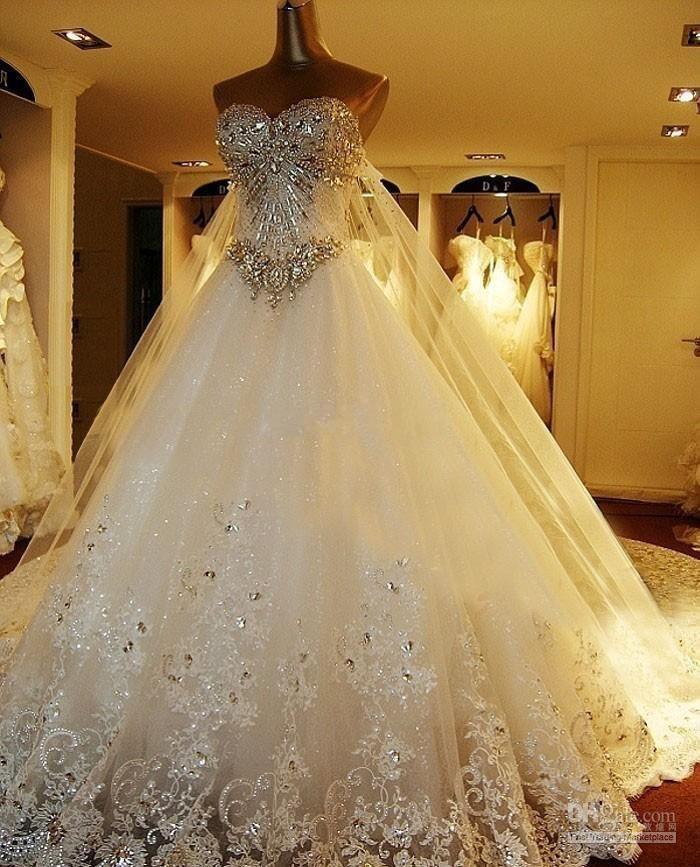 compre vestidos de novia de tul de lujo de lujo vestidos de novia de