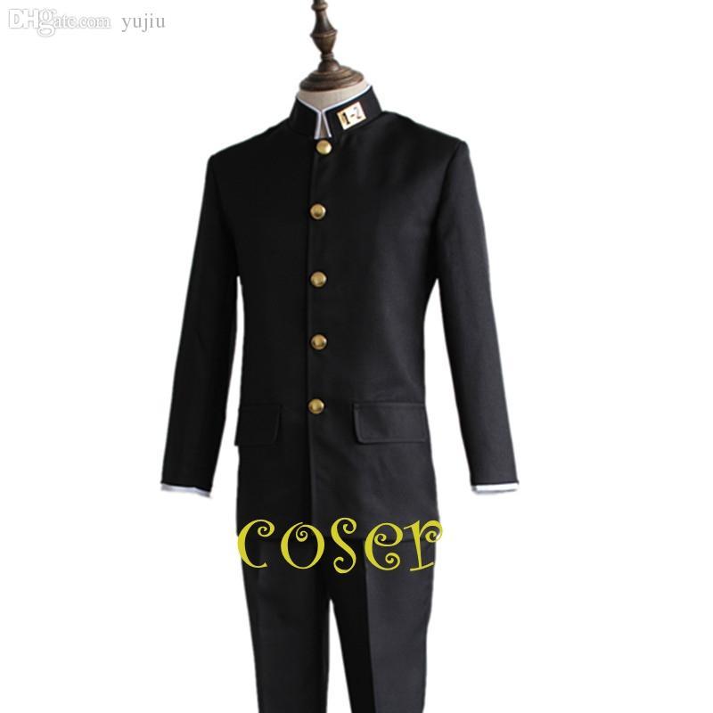 Оптовая продажа-Coser японское аниме Sakamoto desu ga Sakamoto роль косплей костюм одежда пальто брюки мальчик школьная форма костюм