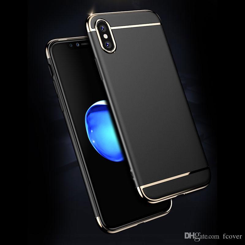 3 in 1 Armatura per l'iphone 7 8 Inoltre iphone 11 Pro X XR XS Max SE 2020 Slim Case iphone 12 Mini 12 Pro Max placcatura di copertura