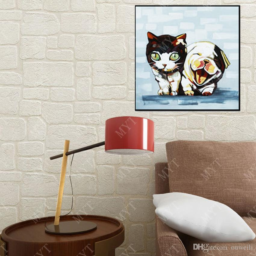 Hand drawing top quality canvas oil painting professional artists paint abstract wall art decoration animal oil painting