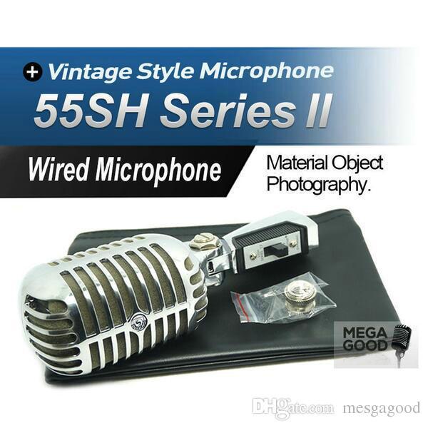 Vente HQ Version d'exportation 55SH II Micro dynamique Vocal 55SH2 Classique Style Vintage Microfone 55SH Série II Mic
