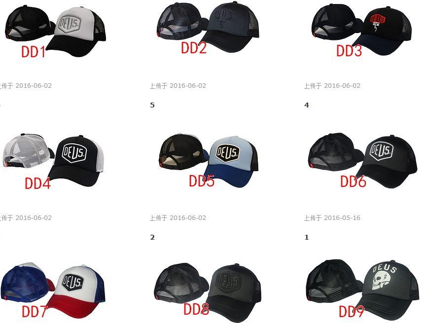 Hot 2016 è sufficiente aggiungere DEUS Snapback Cappelli registrabili cappelli di sport per gli uomini Donna Golf cappello nero maglia cappelli di baseball di moda all'aperto Hip Hop