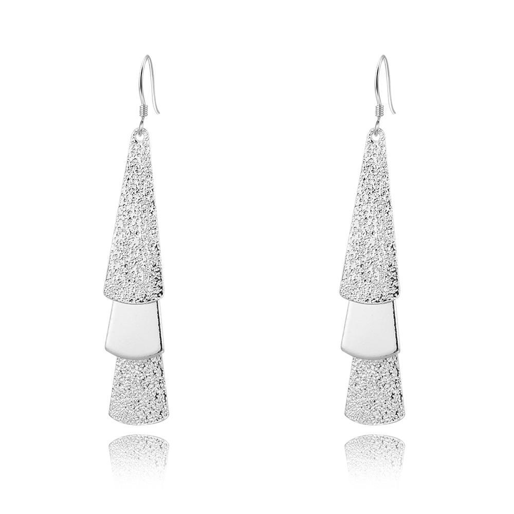 Noir Vendredi Ventes en gros 925 Sterling Silver 3 boucles d'oreilles pendantes triangulaires Livraison gratuite