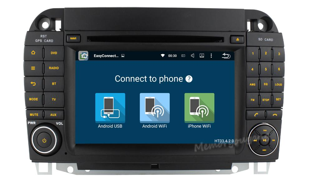 Newest Android 51 Car DVD Player For Mercedes Benz S Class W220 S420 S430 S500 S600 CL W215 CL600 CL55 RDS Radio 3G Wifi 2018 From Memoryouyang