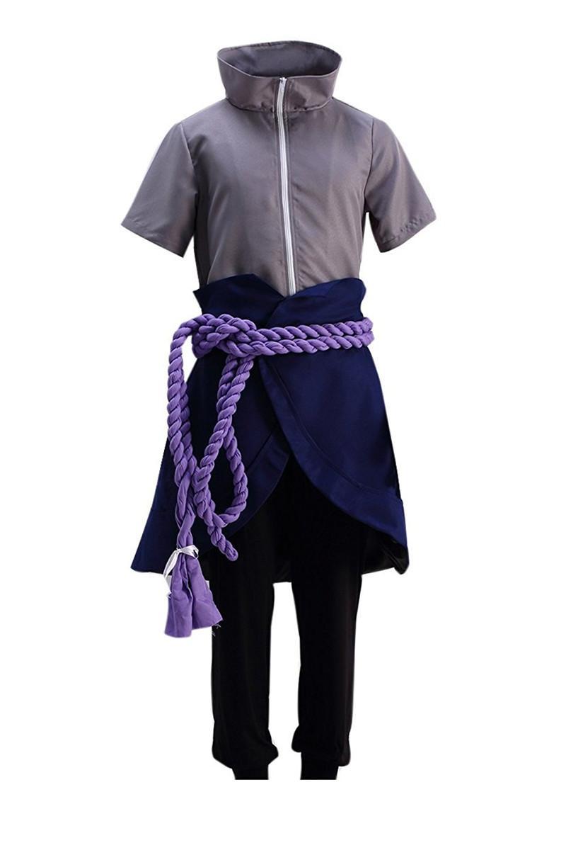 Kukucos Anime Naruto Uchiha Sasuke Men's Cosplay Costume Halloween Party Dress Up