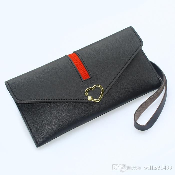 Women Coin Purse Wallets Brand Design Female Handbags Money Bags Girls Purses ID Cards Holder Soft PU Leather Lady Long Wallet