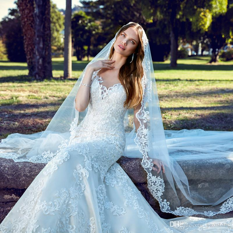 New France Lace Wedding Dresses For Garden Bride 2017 Plus Size ...