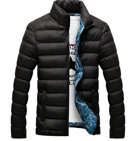 2017 Baumwollmischung Outwear Herren Winterjacke Mode 4xl Zipper Lässig Dicke Asien Männer Für Jacken Größe Jacke Großhandel TKJ1cFl