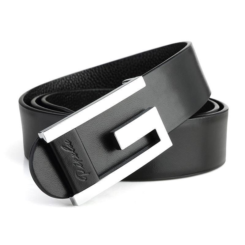 Al por mayor-2016 Nueva marca Top cuero genuino de los hombres de la correa delgada, estilo de moda suave hebilla cinturones decorativos para hombres W127
