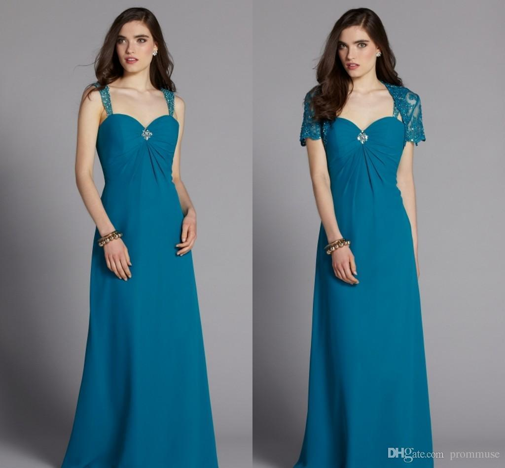 Plus Size Mother Of The Bride Dresses Blue Floor Length Beaded ...