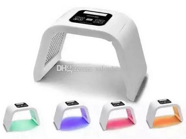 Corea portátil LED luz PDT LED Terapia Red Azul Verde Verde Amarillo 4 Color LED Mascarilla Fototerapia Luz Máquina de la lámpara para el rejuvenecimiento de la piel