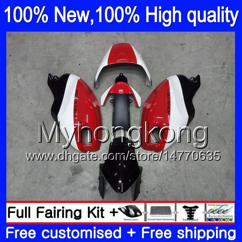 Łamiukiwanie ciała dla Ducati 659 696 795 796 797 09 10 11 19MY5 659S 696S 795S 821 1100 1100S M1000 1200 2009 2010 2011 Working Red White Blk