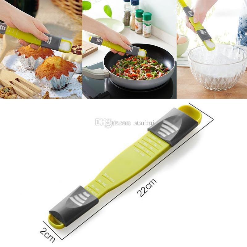 جديد مزدوج نهاية ثمانية أكشاك للتعديل مقياس قياس ملعقة أدوات المطبخ الإبداعية قياس ملعقة المنزل أدوات القياس شحن dhl WX-C50