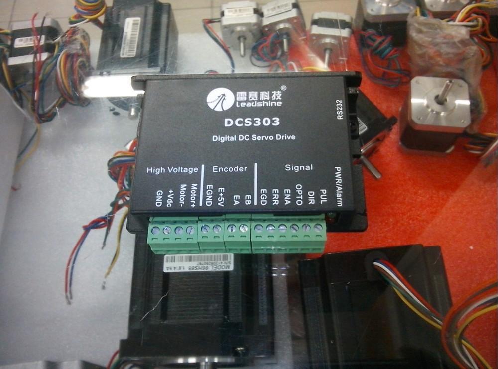 Novos servoacionamentos Leadshine O parâmetro de trabalho 30VDC DCS303 pode ser de 1A a 15A para produtos associados DCM50205 Servo motor DC