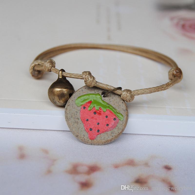 New Vintage Céramique style chinois Animaux Bracelet pour les filles Bon lapin chanceux mignon perles Bracelet Femme chanceux Bijoux amitié cadeau