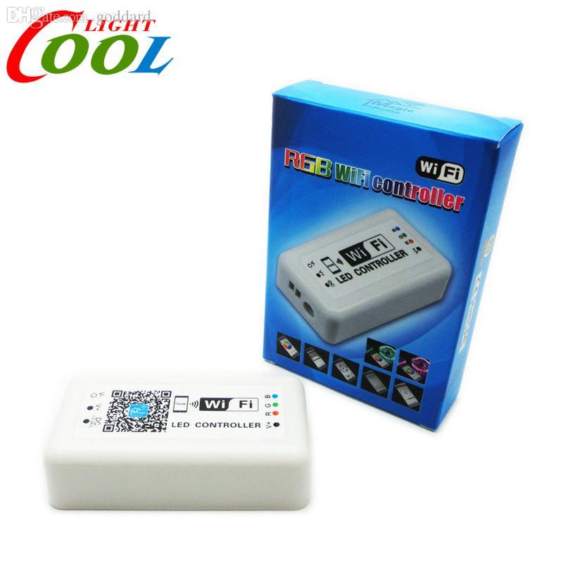 Оптово-DC12-24V WIFI светодиодный контроллер для RGB светодиодных лент Smart RGB контроллер.