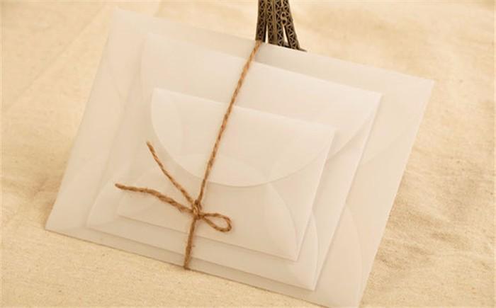 2017 11.5*8.8cm Vintage Frosted Parchment Paper Envelope Wedding ...