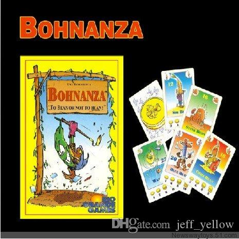 Free shipping Bohnanza Kind of beans get gold With the latest expansion pack Family Children's intelligence Board games