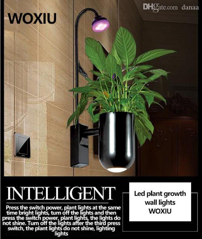WOXIU planta 드 luces 선물 식물 성장 Led 조명 스펙트럼 스트립 램프 8w 수경 수족관 방수 실내 벽 장식