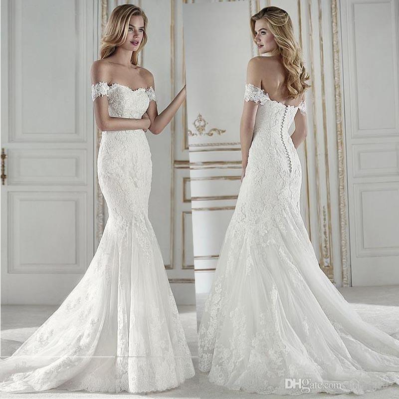 Glamorous Fashion Sweetheart Neckline Mermaid Wedding Dresses Charming Lace Appliques Custom-made Bridal Wedding Gowns Vestido De Noiva