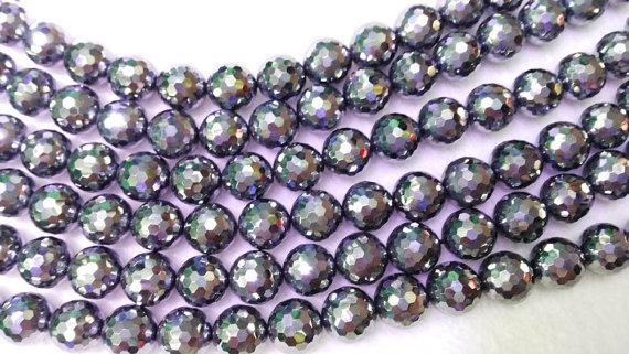 Genuina Teyaheytz pietra preziosa magnetica rotonda palla sfaccettata gioielli perline 4-12mm filo pieno