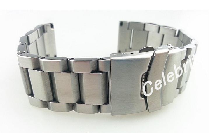 18mm 20mm 22mm 24MM NUOVO di alta qualità spazzolato finitura in puro acciaio inossidabile solido cinturino cinturino cinturino bracciali