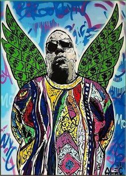 """""""Yeşil Kanat"""" Saf Handpainted / HD Baskı Portre Graffiti Pop Art Yağlıboya resim, Yüksek Kaliteli Tuval Ev Duvar Dekor üzerinde"""