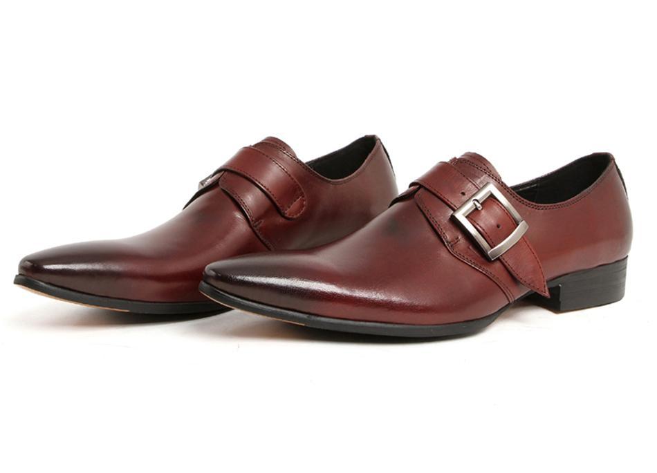 Großhandel 2017 Mew Mann Kleid Schuhe Mode Italienischen Luxus Casual Herren Schuhe Aus Echtem Leder Schwarz Braun Schnalle Design Wohnungen Für