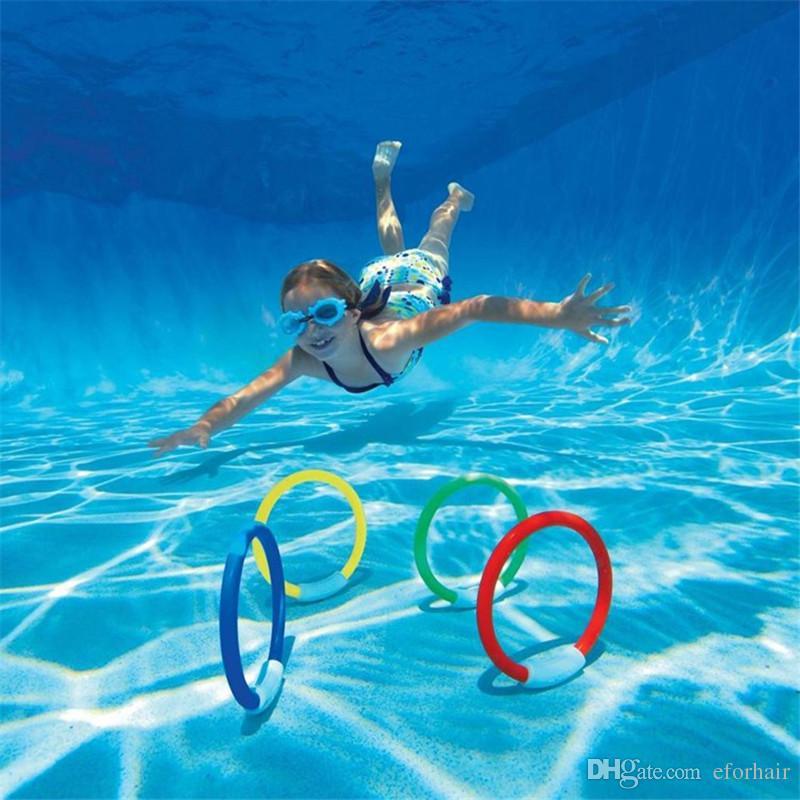 풀 워터 다이빙 장난감 수영 비치 게임 여름 휴일 장난감 스틱 링 4PCS / set
