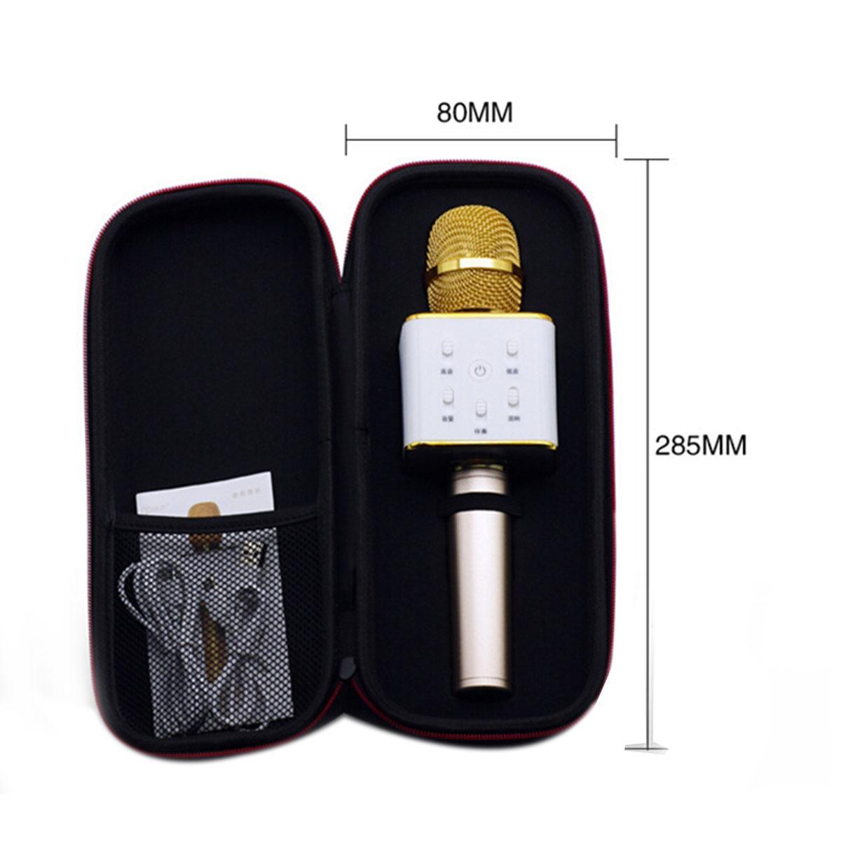 الكاريوكي Q7 يده ميكروفون بلوتوث اللاسلكية ktv مع مكبر الصوت ميكروفون microfono المحمولة مشغل كاريوكي مجانا dhl