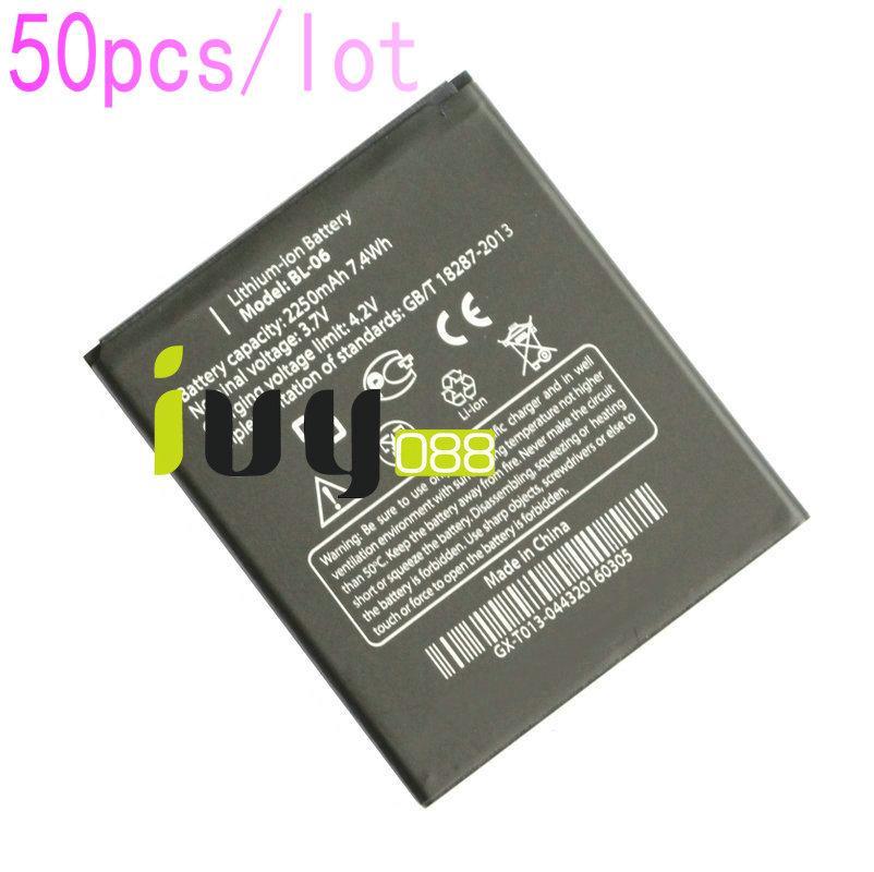 50 قطعة / الوحدة الأصلي BL-06 BL06 bl 06 2250 مللي أمبير بطارية ل thl t6s t6c t6 الموالية بطاريات الهاتف المحمول بطاريات batterie baterij